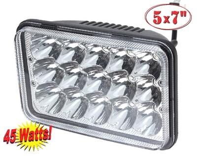 Faro Rectangular 6X4 15 LED 1 Pcs