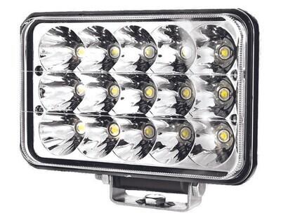 Faro Antiniebla 6X4 15 LED con base 1 pcs