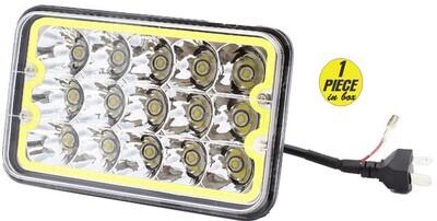 Faro Rectangular 4x6 15 Led borde LED 1 pcs