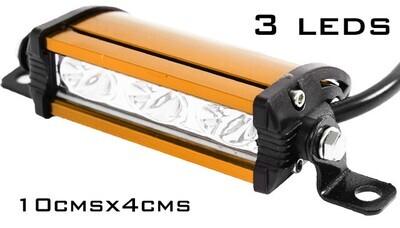 Barra Naranja recta 3 LEDs