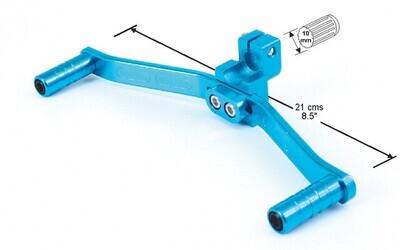 Pata De Cambio De Moto Aluminio Azul