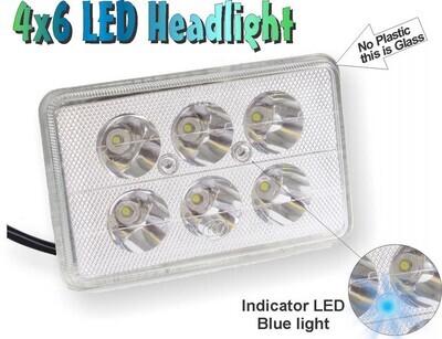 Faro de Moto cuadrado 6 LED