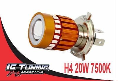 Bombillo H4 4 LED 1pcs Lupa multi Color