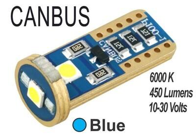 Muelita LED 3 Led Canbus 2 pcs Azul