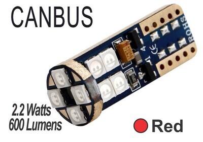 Muelita LED 12 Led Canbus 2 pcs Roja