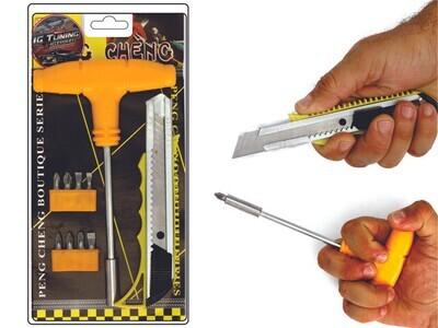 Kit Destornillador Cuter 12 Pcs