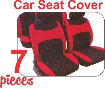 Forro de asiento Negro Rojo