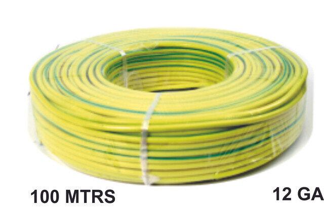 Cable 100 Mtrs Aluminio 12 Ga Amarillo Verde