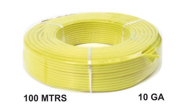 Cable 100 Mtrs Aluminio  10 Ga Amarillo