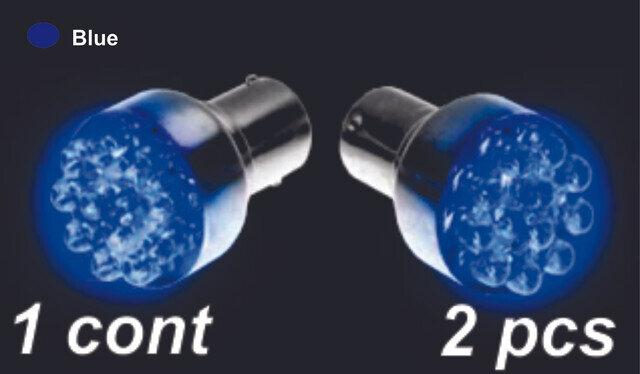 Bombillo 12 Led 1 Cont 2 Pcs Azul
