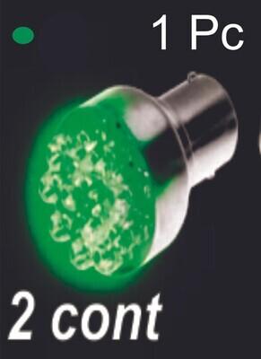 Bombillo 12 Led 2 Cont 1 Pc Verde
