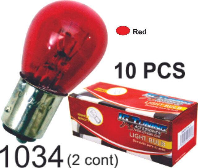 Bombillo Vidrio 2 Cont 10 Pcs Roja