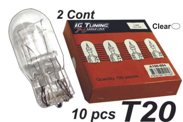 Bombillo T20 2 Cont Clear 10 Pcs