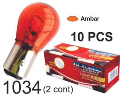 Bombillo Vidrio 2 Cont 10 Pcs Ambar