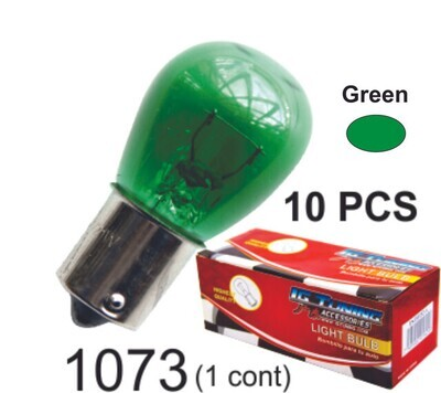 Bombillo Vidrio 1 Cont 10 Pcs Verde