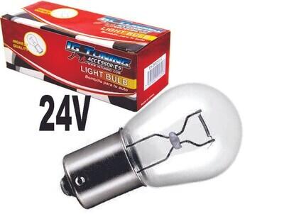 Bombillo Vidrio 1 Cont 24 volts 10 Pcs