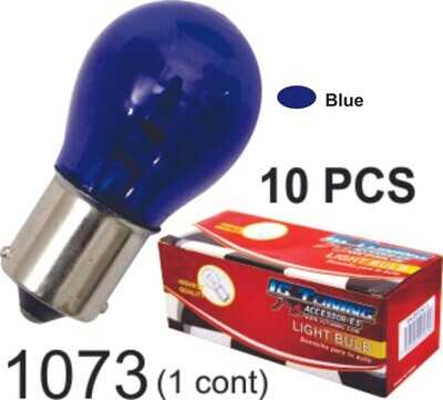 Bombillo Vidrio 1 Cont 10 Pcs Azul