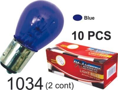Bombillo Vidrio 2 Cont 10 Pcs Azul