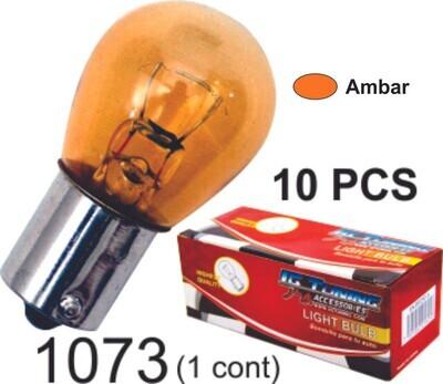Bombillo Vidrio 1 Cont 10 Pcs Ambar