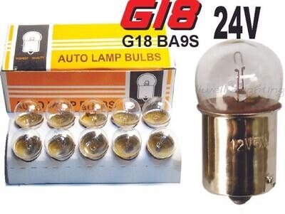 Bombillo Vidrio 2 Cont 24 volts 10 Pcs