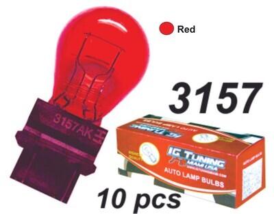 Bombillo 3157 Rojo 10 Pcs