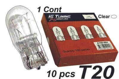 Bombillo T20 1Cont Clear 10 Pcs
