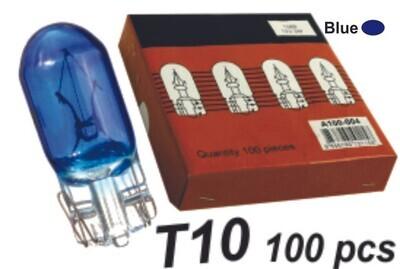 Bombillo T10 Vidrio Azul 100 Pcs