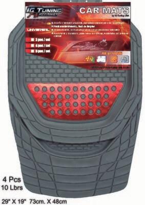Alfombra Escalibur Gris Aluminium Rojo