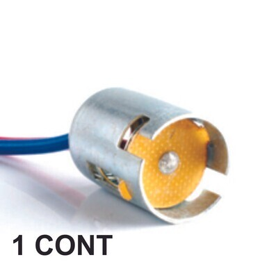 Conector De Bombillo Metal De 1 Cont 1 Pcs