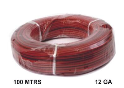 Cable 100 Mtrs Cobre 12 Ga Rojo Negro