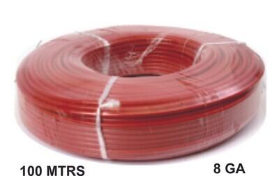 Cable 100 Mtrs Cobre 8 Ga Rojo