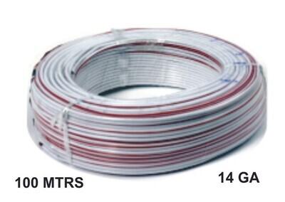 Cable 100 Mtrs Aluminio 14 Ga Blanco Rojo