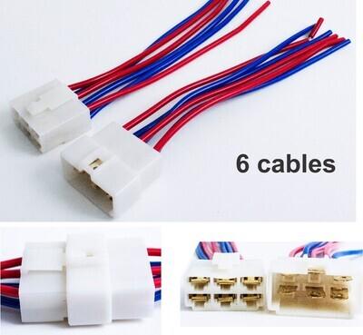 Conector Macho hembra 6 Cables
