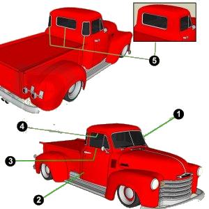 1947-48 GM Complete Weatherstrip Kit