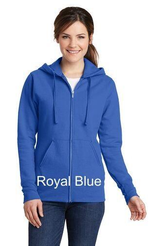 Ladies Fleece Full-Zip Hooded Sweatshirt - Royal
