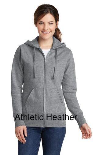 Ladies Fleece Full-Zip Hooded Sweatshirt -  Athletic Heather
