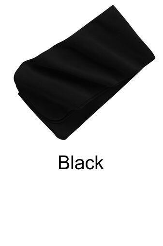 Extra Long Fleece Scarf - Black