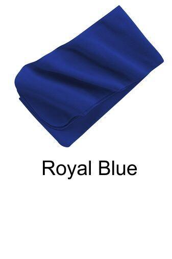 Extra Long Fleece Scarf - Royal Blue