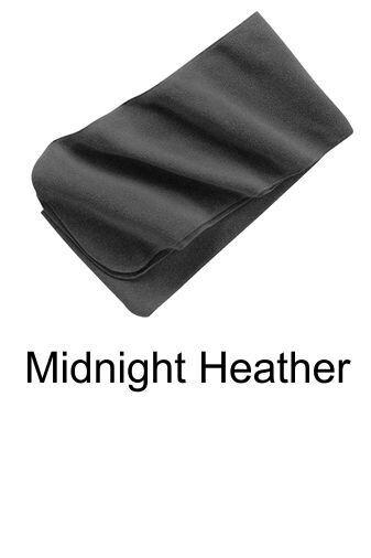 Extra Long Fleece Scarf - Midnight Heather