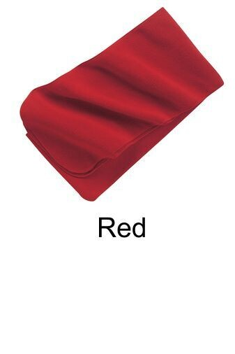 Extra Long Fleece Scarf - Red