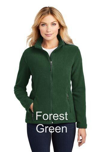 Ladies Fleece Jacket - Forest Green