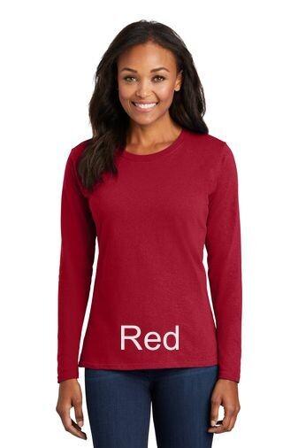 Ladies Long Sleeve Tee - Red