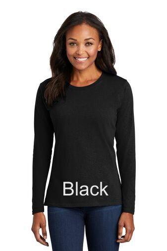 Ladies Long Sleeve Tee - Black