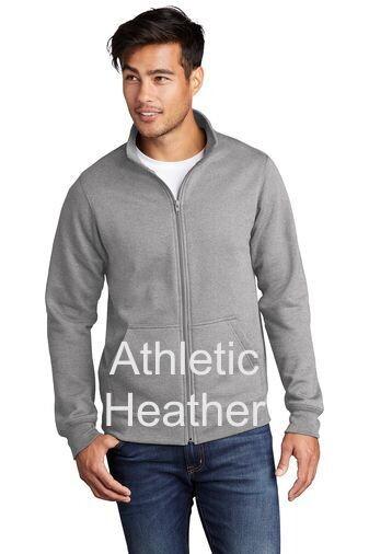 Men's Fleece Full-Zip Cadet Sweatshirt - Athletic Heather