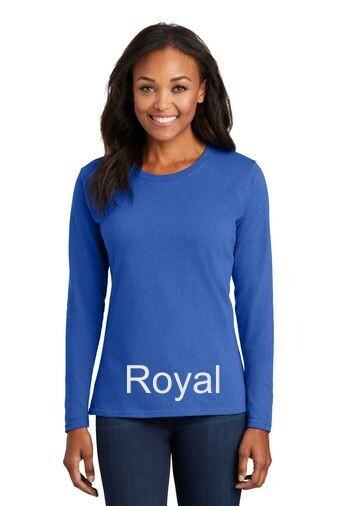 Ladies Long Sleeve Tee - Royal