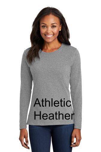 Ladies Long Sleeve Tee - Athletic Heather