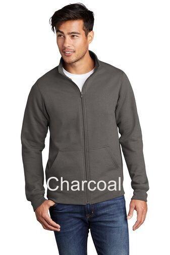 Men's Fleece Full-Zip Cadet Sweatshirt - Charcoal