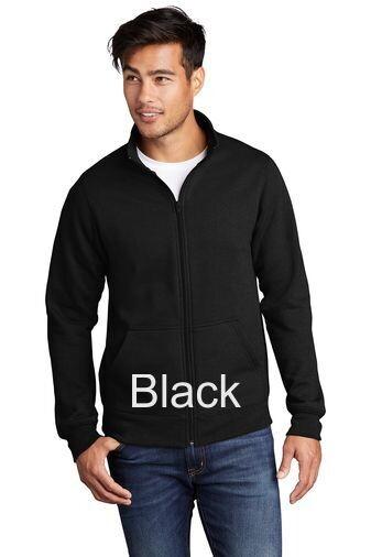 Men's Fleece Full-Zip Cadet Sweatshirt - Black