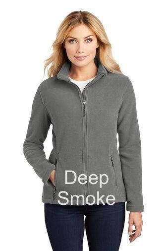 Ladies Fleece Jacket - Deep Smoke