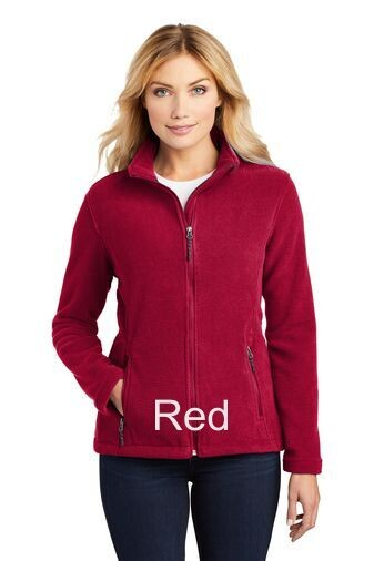 Ladies Fleece Jacket - Red